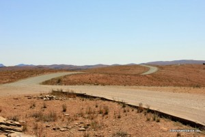 die Straße in den Flinders Ranges