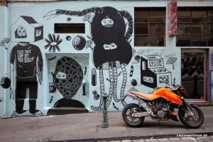 Street Art in der Housier Lane