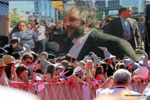 Peter Jackson auf der Videowand