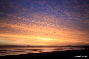Sonnenuntergang in Gisborne