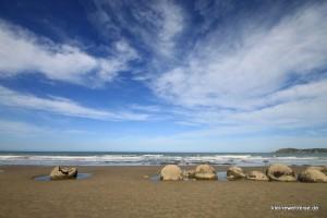 Moeraki Boulders vor Meer