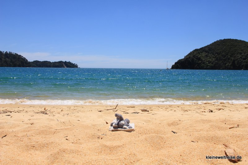 Fanta am Strand, Abel Tasman National Park