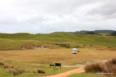 Camper am Cape Farewell