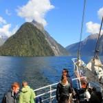 Mit dem Boot im Milford Sound