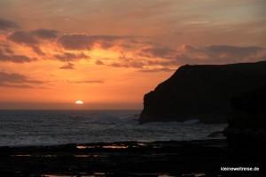 Sonnenuntergang in der Curio Bay
