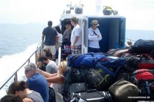 Gepäck an Bord