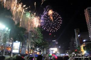 Das Feuerwerk in Central World