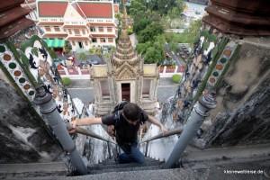 Die Stufen auf den Wat Arun