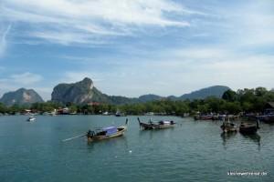 am Hafen in Krabi