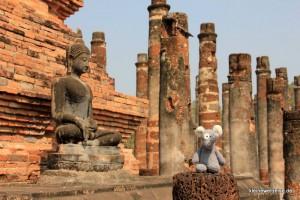 Fanta im historischen Sukhothai