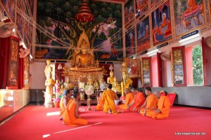 Zeremonie zur Verabschiedung eines Mönchs