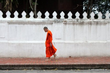 Mönch vor Mauer