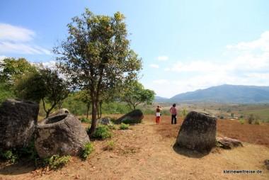 Steinkrüge und Bäume, Ebene 2