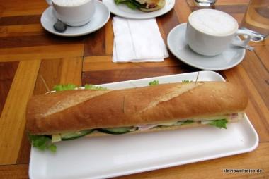 Schinken-Käse-Baguette in der Scandinavian Bakery