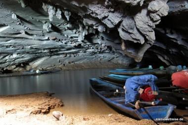 der Bootsanleger in der Höhle