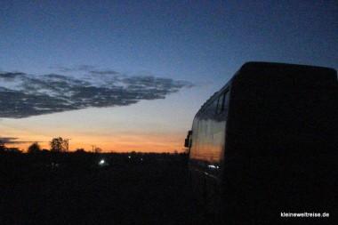 Der Bus bei Nacht