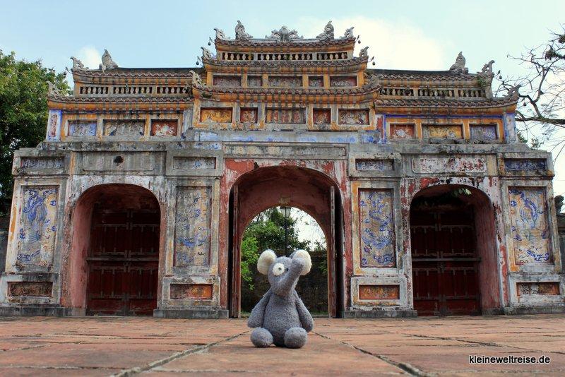 Fanta in der Citadel in Hue