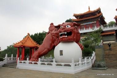 Löwe im Wenwu Tempel