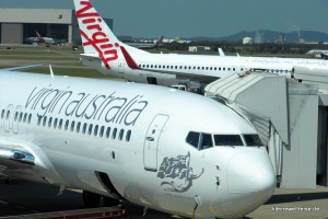 Virgin Australia Boeing 737-800 in Brisbane