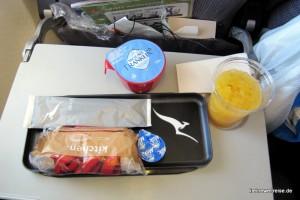 Der Snack an Bord
