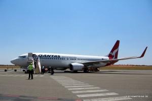 unsere Boeing 737-800 am Connellan Airport