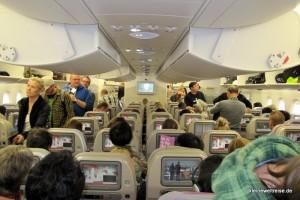 Economy Kabine der A380 von Emirates