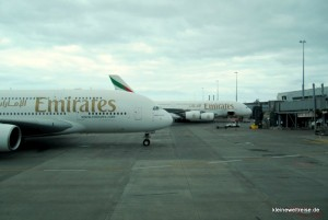 zwei Airbus A380 von Emirates