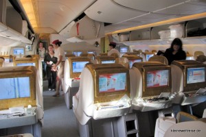 Blick in die Business Class
