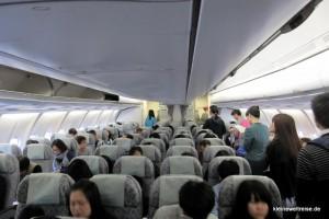 Kabine der Eva Air Airbus A330
