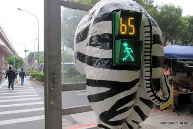 Das Zebra: Ampel in Taipeh