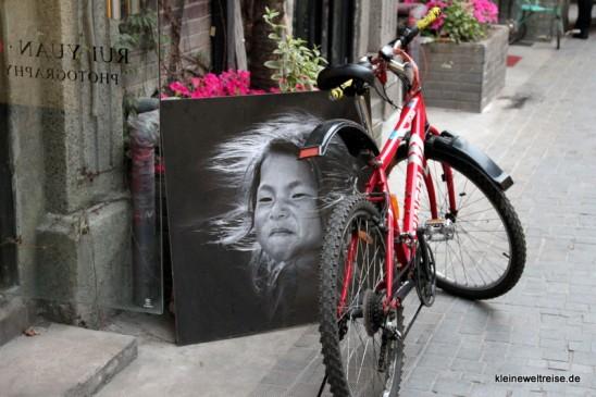 Fahrrad mit Bild in Shanghai