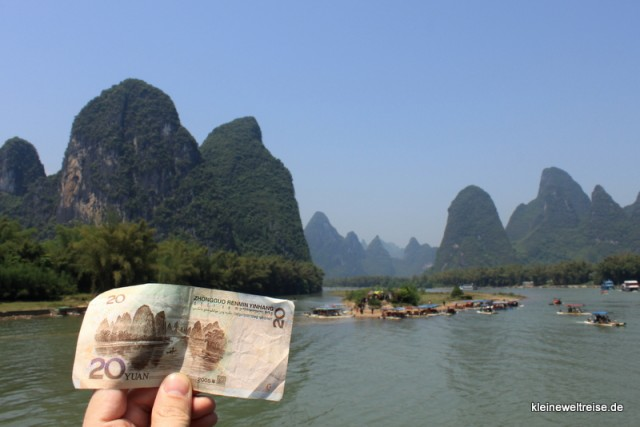 Die 20 Yuan-Sicht