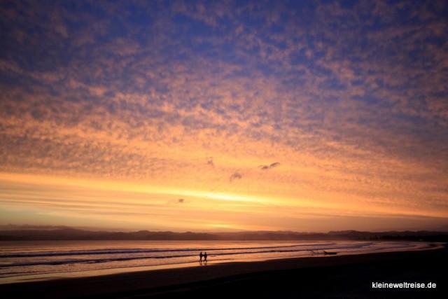 Wolken in Neuseeland, dem Land der Sonnenuntergänge
