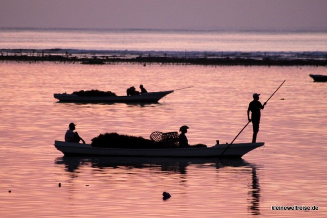 Sonnenuntergang ohne Sonne: Nusa Lembongan, Bali