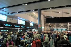 CheckIn in Dublin am Flughafen