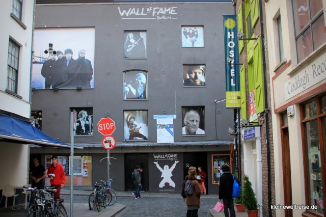 Die Wall of Fame in Temple Bar