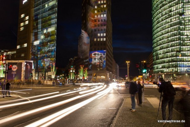 am Potsdamer Platz zum Festival of Lights