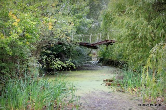 alte Brücke über den Teich