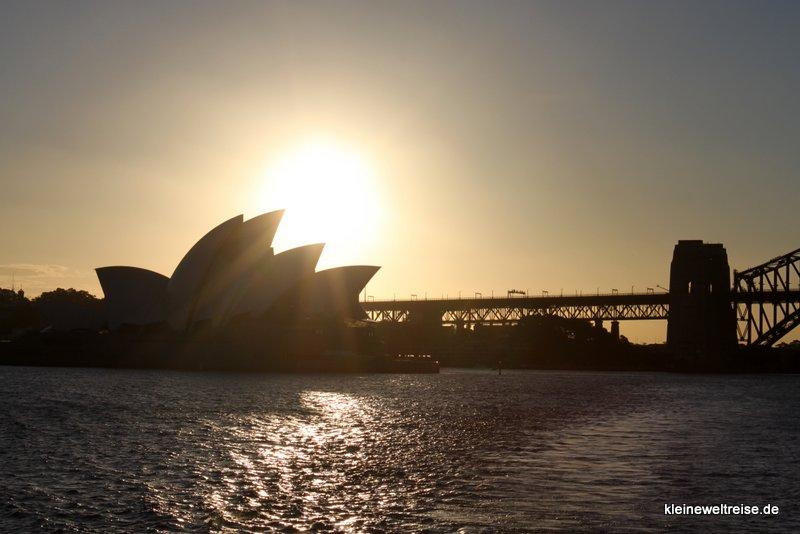 Silhouette Opernhaus in Sydney