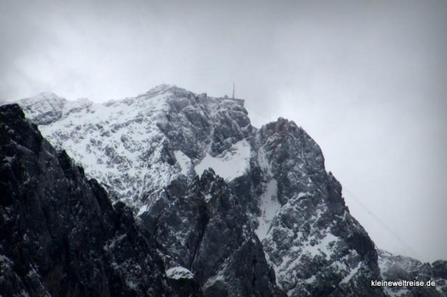 Zugspitze in Wolken