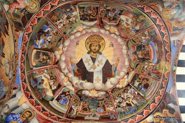 Deckenmalerei im Rila-Kloster