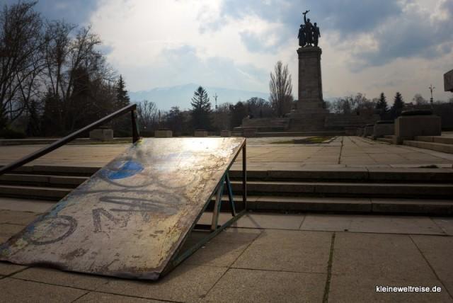 Denkmal zu Ehren der Sowjetarmee: heute für Skater