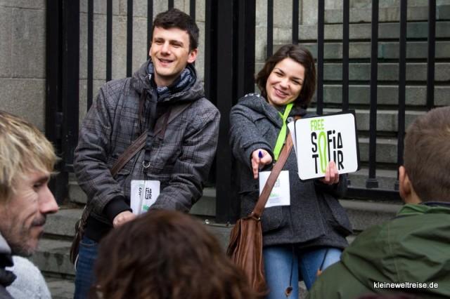 Yana und Filip starten die Free Sofia Tour