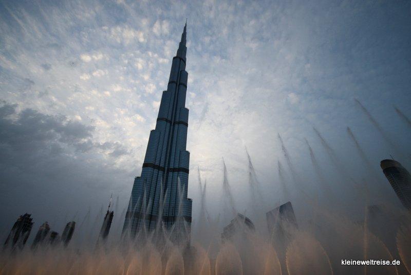 Wasserspiele vor dem Burj Khalifa