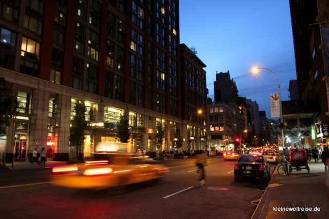 straßenschlucht in New York