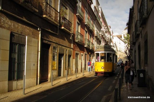 die Straßenbahn in Lisboa