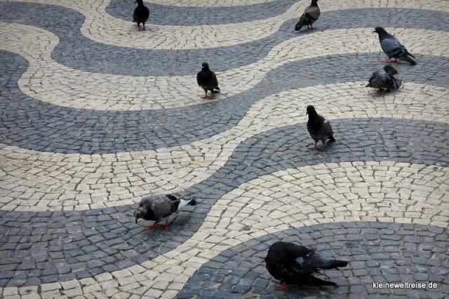 Muster auf dem Rossio Platz