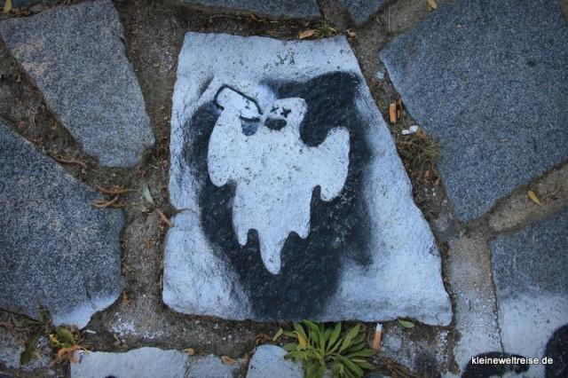 Streetart aufm Boden