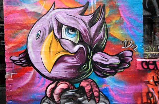 Angry Bird in der Hoisier Lane