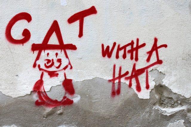 Katze mit Hut aus Wien